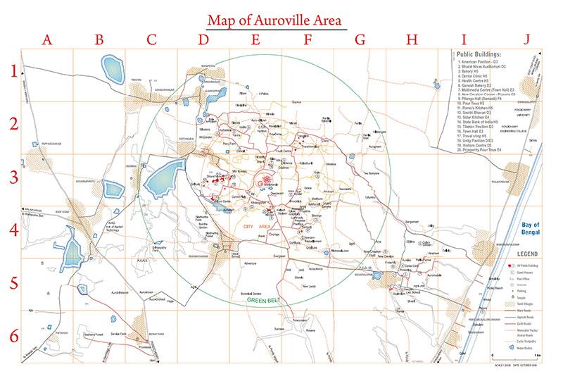 Карта Ауровиля