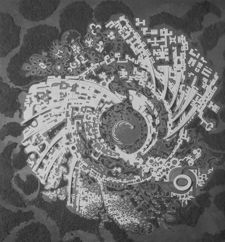 Модель «Галактика» 1968г. со скульптурой пламени в центре