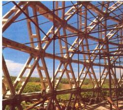 Вид на конструкцию стен изнутри