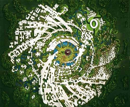 Ауровиль - план города